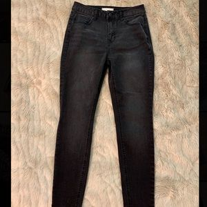 Francesca's High Waisted Skinny Black Jeans